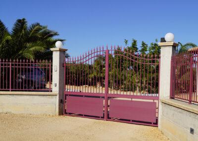 Cancello Ferro Rosso